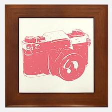 Pink Camera Framed Tile
