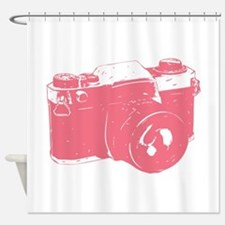 Pink Camera Shower Curtain