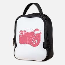 Pink Camera Neoprene Lunch Bag