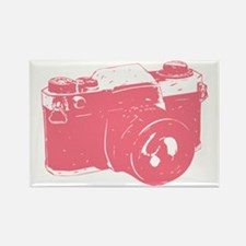 Pink Camera Rectangle Magnet