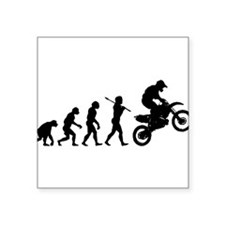 "Cute Dirt bike Square Sticker 3"" x 3"""