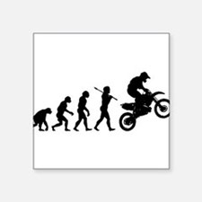 "Cute Evolve humor Square Sticker 3"" x 3"""