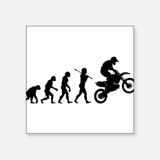 """Funny Human evolution Square Sticker 3"""" x 3"""""""