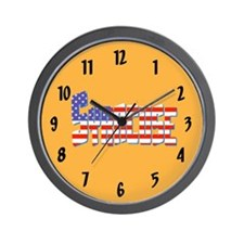 Patriotic Syracuse Wall Clock