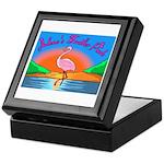JolenesTrailerPark Sunset Log Keepsake Box