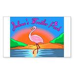 JolenesTrailerPark Sunset Log Sticker (Rectangular