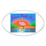 JolenesTrailerPark Sunset Log Oval Sticker