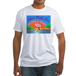 JolenesTrailerPark Sunset Log Fitted T-Shirt