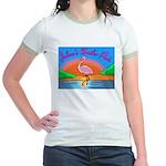 JolenesTrailerPark Sunset Log Jr. Ringer T-shirt