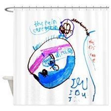 Kloes Mothers Day Drawing Shower Curtain