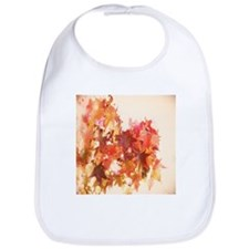 elegant autumn fall leaves Bib