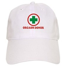 Orgasm Donor - Circle logo Baseball Cap