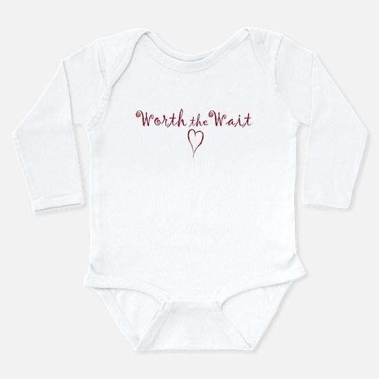 Cute Worth wait Long Sleeve Infant Bodysuit