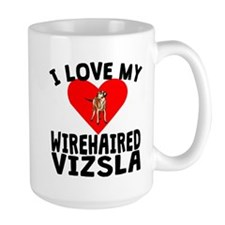 I Love My Wirehaired Vizsla Mugs