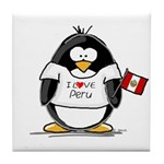 Peru Penguin Tile Coaster