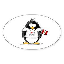 Peru Penguin Oval Decal