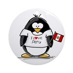 Peru Penguin Ornament (Round)