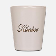 Gold Kimber Shot Glass