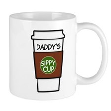 Daddy's Sippy cup coffee funny Small Mug