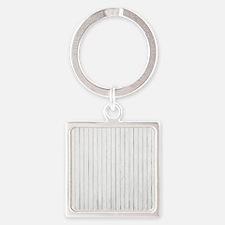 shabby chic white pin stripes Keychains