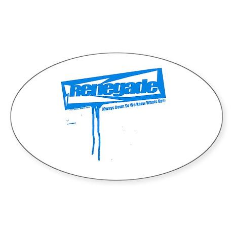 renegademag.com Oval Sticker