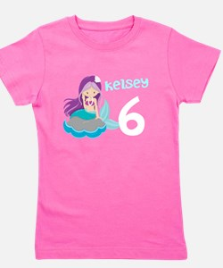 Custom Mermaid Girl's Tee