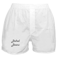 Baked Beans Classic Retro Design Boxer Shorts