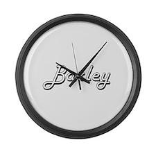 Barley Classic Retro Design Large Wall Clock