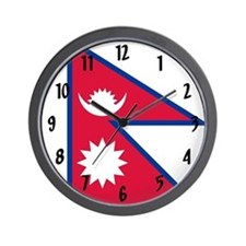 Flag of Nepal Wall Clock