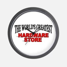 """The World's Greatest Hardware Store"" Wall Clock"