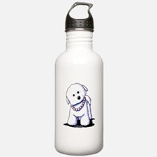 KiniArt Bichon In Pear Water Bottle