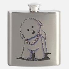 KiniArt Bichon In Pearls Flask