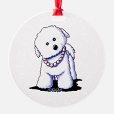 KiniArt Bichon In Pearls Ornament