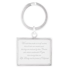 Unique Declaration independence Landscape Keychain