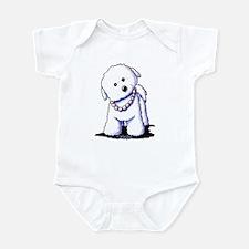 KiniArt Bichon In Pearls Infant Bodysuit