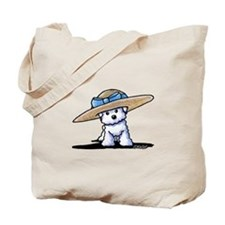 bichon in Tote Bag