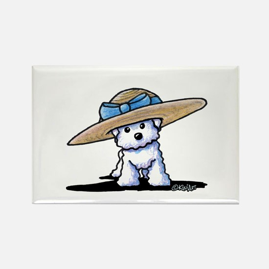 bichon in Rectangle Magnet (10 pack)