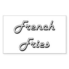 French Fries Classic Retro Design Decal