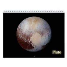 Twelve (12) Month Wall Calendar 2 Images Of Pluto