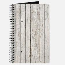 shabby chic white barn wood Journal