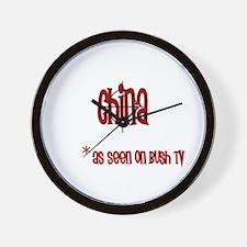 China on Bush tv Wall Clock