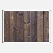Hickory brown country barn wood Banner