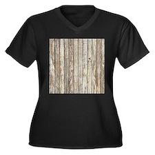 shabby chic white barn wood Plus Size T-Shirt