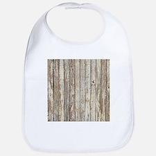 shabby chic white barn wood Bib