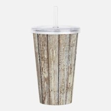 shabby chic white barn Acrylic Double-wall Tumbler