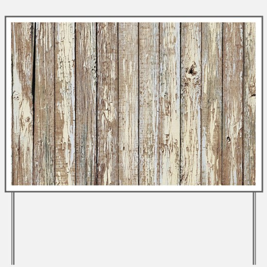 shabby chic white barn wood Yard Sign