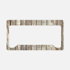 shabby chic white barn wood License Plate Holder