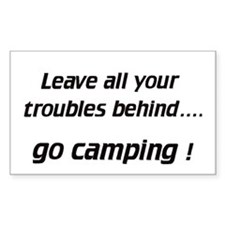 Leave / go camping - Decal (Rectangular)