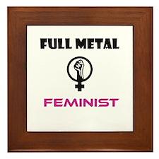 Full Metal Feminist Framed Tile