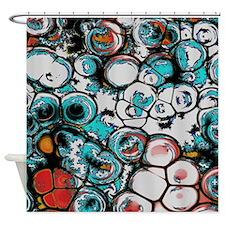 Fractal Amoeba Shower Curtain